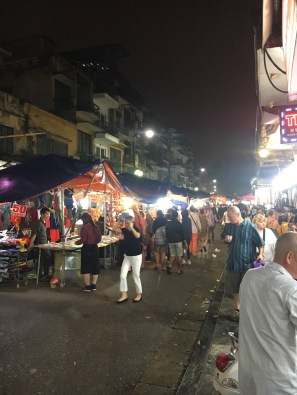 The night market. Lots of fun and full of Bose, North Face, Nike etc goods of $2!